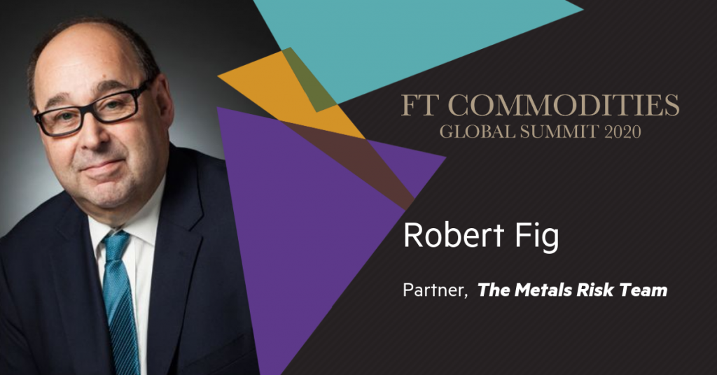 Speaking at this year's Financial Times Commodities Summit 28-30 September, 2020